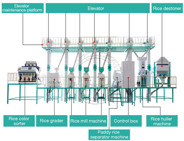 rice mill plant structure-hongjiamachinery