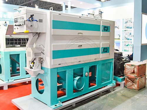 rice polishing machine in rice processing plant